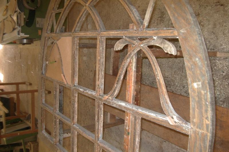 Restauration Oberlicht Kirchentür