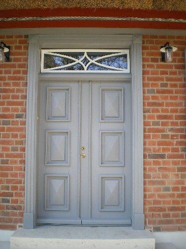 Haustür zweiflüglig mit Oberlicht